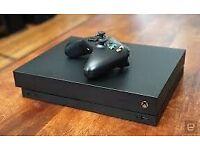 XBOX ONE X Project Scorpio Edition 1TB Console + Games