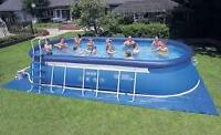 Intex pool 12ft x 48ft x 4ft