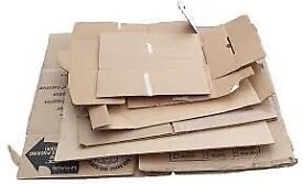 Wanted cardboard boxes various sizes and quantities other packaging materials