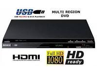 NEW SONY DVP SR760H DVD/CD PLAYER HDMI 1080P UPSCALING USB DIVX PLAYBACK. £20