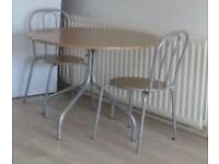 moving this week, Argos dinning table and four chairs £20 Original price £90