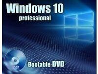 WINDOWS 10 PRO 32/64 BIT BOOTABLE DISC