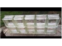 10 clear glass bricks/blocks