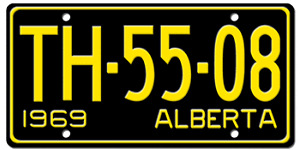 Pair of 1969 Alberta License Plates