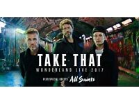 3 x Standing Take That Tickets at Liberty Stadium Swansea - Wednesday 14th June 2017 Wonderland Tour