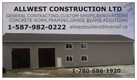GENERAL CONTRACTING, SHOPS, GARAGES, CUSTOM HOMES, CABINS, RENOS