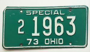 Old Ohio License Plates