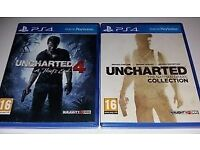 unchartered 4 and unchartered nathan drake collection ps4