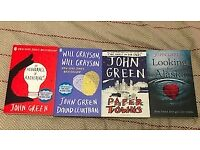 4 John Green Books - Paper Towns, Looking for Alaska, Will Grayson and An Abundnce of Katherines