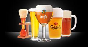 collection de verre et bock à bière