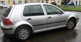 Volkswagen Golf 1.6 2003 automatic , Silver, 5 door, Petrol, 138,049 miles, MOT to February 2018