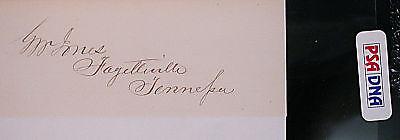 GEORGE JONES Tennessee Representative  Signed AUTOGRAPH PSA/DNA