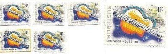Neil Finn Crowded House Australia Rock Music Stamps pop rock  Fleetwood Mac