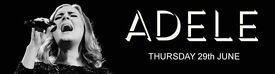 4 Adele Wembley Tickets 29th June Row 3 Block103 £175 each