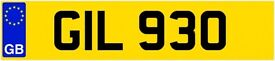 GIL 930 Number Plate