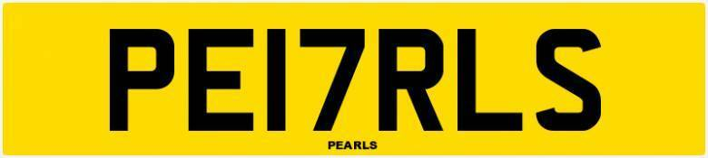 Pearls - PE17RLS - private number plate