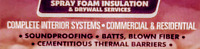 Roof repair and Spray foam insulation Services