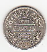 2 Anciens jeton Pont Champlain et Jacques Cartier (B219)