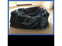 Adult Motocross Helmet, body armor, boots, gloves, trousers, googles and Bag