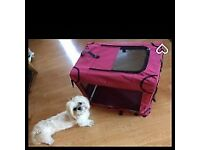 Pets at Home Fabric Dog and Cat Kennel Small