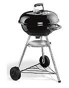 Weber 47cm Compact Kettle Barbeque Grill - Briquette- Black NEW IN BOX