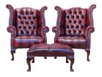 **WANTED** CHESTERFIELDS - any condition leather sofas suites chairs club wingbacks tub footstool