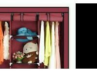 Red canvas wardrobe in box