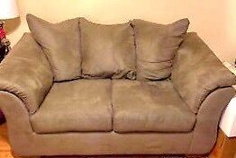 TAN COLOURED LOVESEAT- PERFECT CONDITION