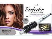 £25 New Perfecter Fusion hair style, brush & hairclips