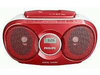 Philips AZ215R Portable CD Player Red
