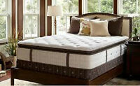 King mattress...Stearns & Foster Euro-Top.Looks like new .......