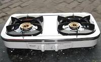Two PROPANE burner hot plate for backyard BBQ or camping