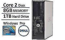 PROFESSIONALLY REFURBISHED 8GB RAM 1TB HD DELL COMPUTER INTEL DUO WINDOWS 10 6 MTHS WARRANTY WIFI