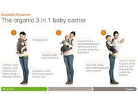 New Stokke 3 in 1 baby carrier x 2 (in khaki and navy - RRP £139 each)