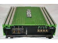 "Fusion FE 402 Audio Amplifier 400 Watts. Plus 12"" Subwoofer Enclosures"