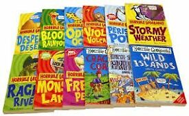 Horrible histories, geography and science box sets and loose excellent condition 50 books