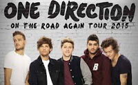 2 tickets for One Direction Sec G Row 18 Seats 1,2