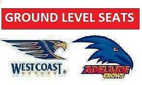 WEST COAST EAGLES v Adelaide Crows Tickets Adelaide CBD Adelaide City Preview