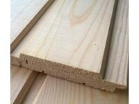 High quality soft wood, smooth planted T&G cladding
