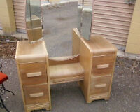Ladies's Vanity, refurbished solid wood