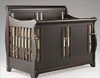 Shermag Bradford Convertible Crib Bed Rails Included and dresser