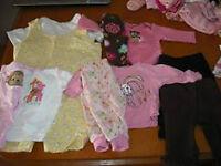 NB & Preemie girls sleepers & onesies