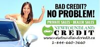 Newfoundland Credit auto financing for all types of credit!