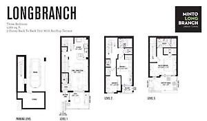 Long Branch & lakeshore brand new 3 bed townhome for lease