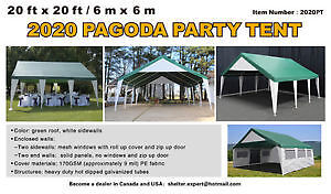 20' x 20' NEW PAGODA PARTY TENT NEVER USED $875