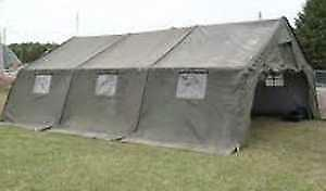 3 Section Canadian Military Modular Tent complete with Poles