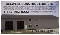 FOR SALE CUSTOM SHOPS, GARAGES, CUSTOM HOMES, CONCRETE WORK