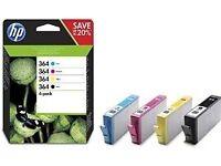 HP364 Original Ink Cartridges - Mulit-pack (Black, Yellow, Magenta, Cyan), Pack of 4