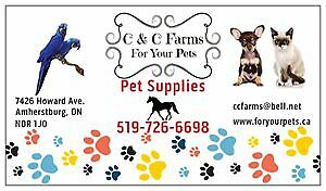 C & C Farms - For Your Pets Supplies & Aviary - Open House