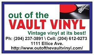 OUT OF THE VAULT VINYL WILL OPEN  Thurs-Sun every week